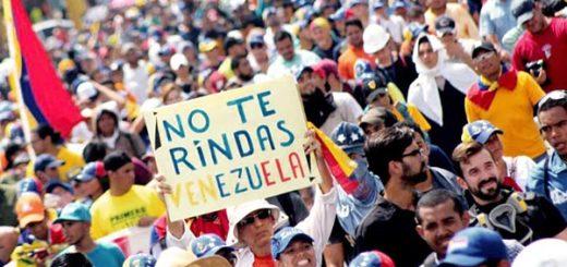 Venezolanos marchan este jueves |Foto: Twitter