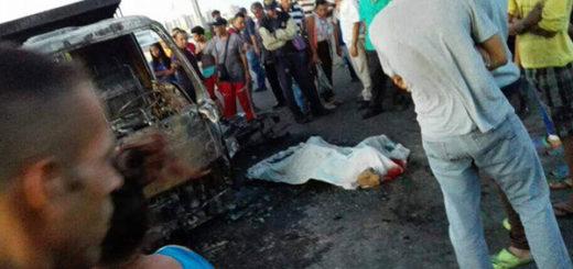 Un muerto y un herido con 95% de quemaduras deja accidente durante protesta en Maracaibo | @galindojorgemij