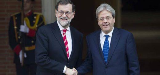 Mariano Rajoy y Paolo Gentiloni, abordaron tema de Venezuela |Foto: EFE