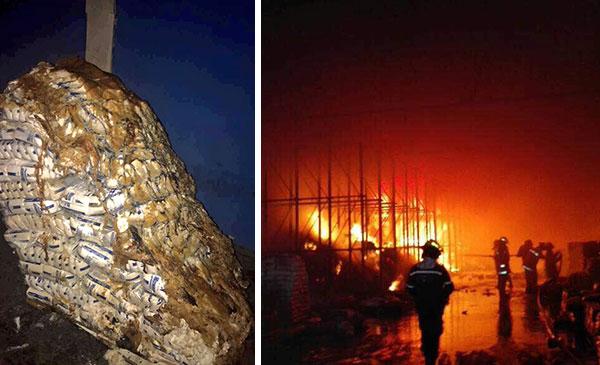 Grupos violentos incendiaron centro de acopio de Mercal en Lechería | Composición