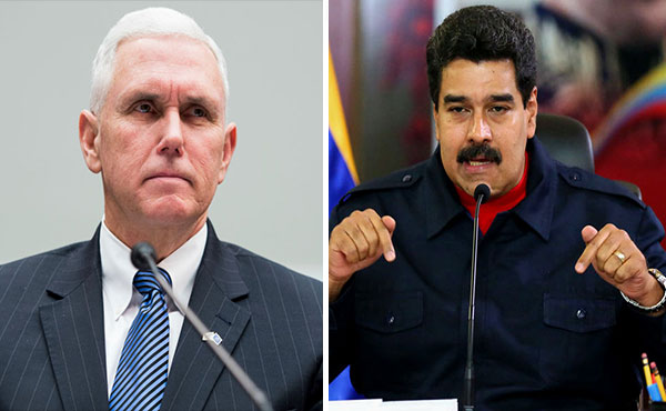 Vicepresidente de EEUU, Mike Pence / Presidente Nicolás Maduro | Composición