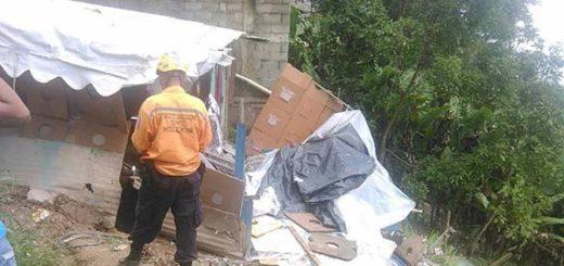 Viviendas en Miranda fueron afectadas por las fuertes lluvias |Foto: Nota de prensa