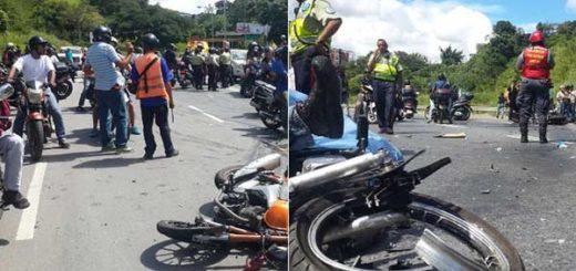 Dos motorizados murieron al chocar de frente durante protesta en la Prados del Este