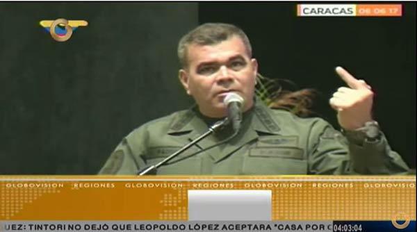 Vladimir Padrino López, Ministro para la Defensa | Foto: Captura de video