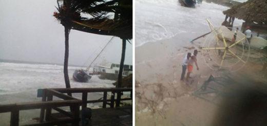 Tormenta Bret genera fuertes ráfagas de viento y causa destrozos en Pampatar | Fotos: @Yanetfermin