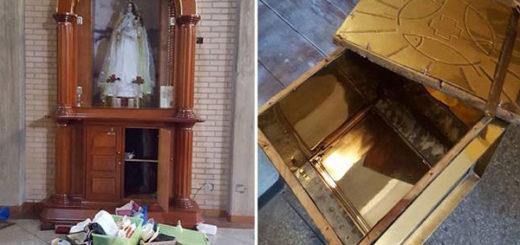 Robaron sagrario y profanaron Eucaristía de la Iglesia de Santa Rosa de Lima | Fotos: P. Oswaldo Montilla