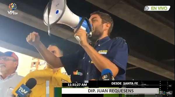 Diputado por la MUD, Juan Requesens | Foto: Captura de video