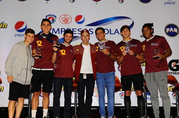 Empresas Polar rindió homenaje a los jugadores de la Vinotinto Sub-20 | Foto: Empresas Polar