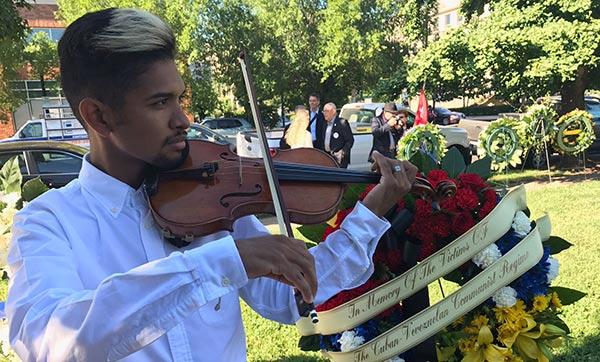 Wuilly Arteaga participó en homenaje a las víctimas del comunismo en EEUU