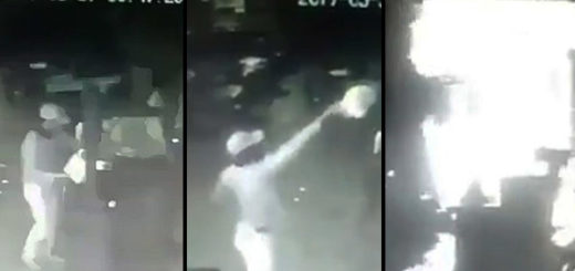 Momento en que fue incendiado restaurante de Wilmer Azuaje | Captura de video