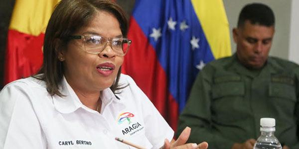 Caryl Bertho, Gobernadora del estado Aragua   Foto: Cortesía