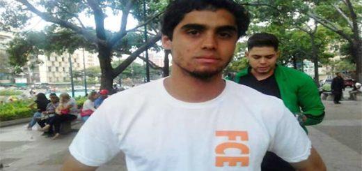 Estudiante de Unimet, Daniel González | Foto: La Patilla