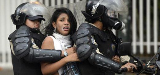 Detenida durante protesta | Foto referencial
