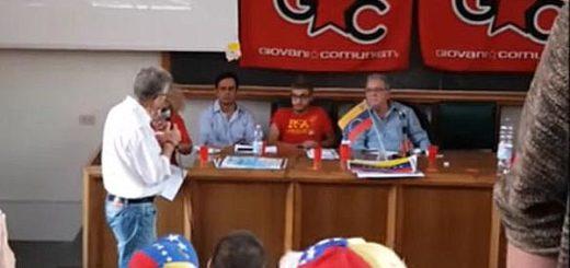 Profesor venezolano enfrentó a Isaías Rodríguez en Italia | Captura de video