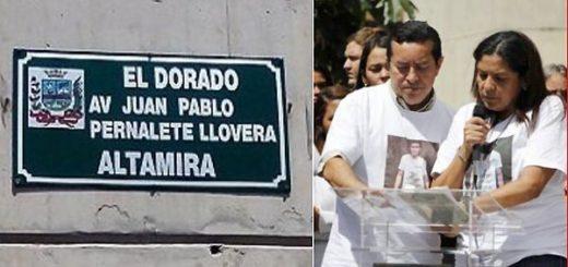 Bautizan avenida con el nombre de Juan Pernalete | Fotos: Twitter