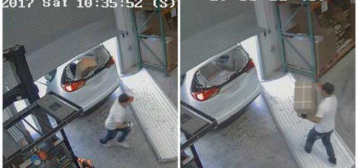 Dos hombres robaron 30 mil condones y 15 mil dólares en juguetes sexuales | Fotos: Captura video de seguridad