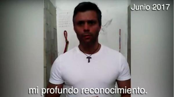 Mensaje de Leopoldo López | Foto: Captura de video
