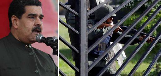Nicolás Maduro condenó el uso de armas | Fotomontaje Notitotal