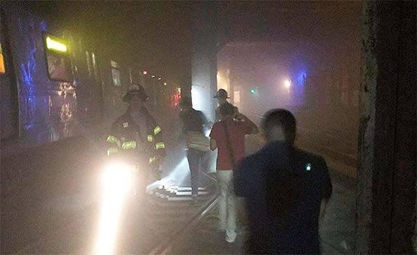 Descarrilamiento de metro de Nueva York    Foto: Twitter
