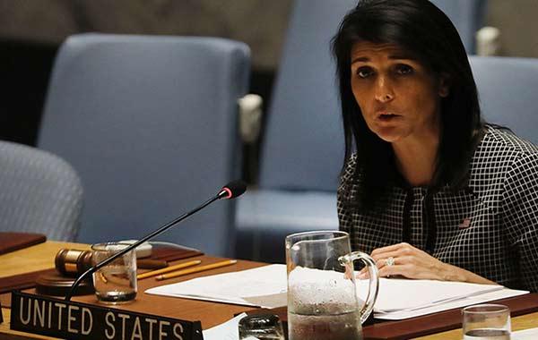 Nikki Haley, embajadora de EEUU ante la ONU |Foto archivo