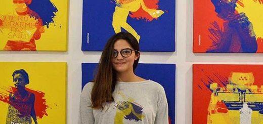 Artista Plástico Orianna Montegro ganó premio por su obra sobre las protestas en Venezuela