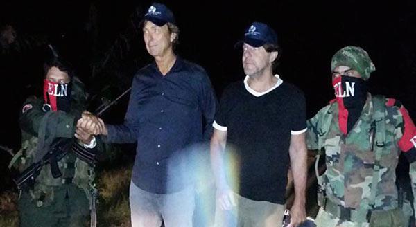 Periodistas holandeses secuestrados por el ELN  Foto: EFE
