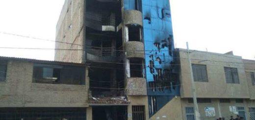 Al menos siete muertos tras incendio en edificio residencial en Perú | Foto: Twitter