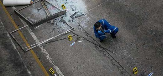 levantamiento planimétrico del lugar donde murió Neomar Lander | EFE