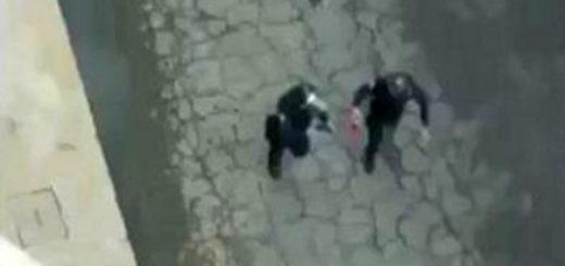 Efectivos de Poliaragua fueron captados lanzando bombas molotov | Captura de video
