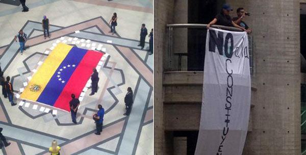 Protesta en C.C. El Recreo | Fotos: @jesusarmasccs
