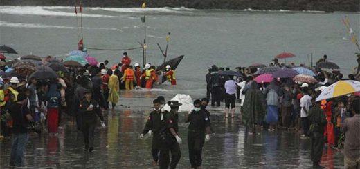 Al menos 29 cadáveres recuperados tras accidente de avión militar en Birmania | Foto: AP