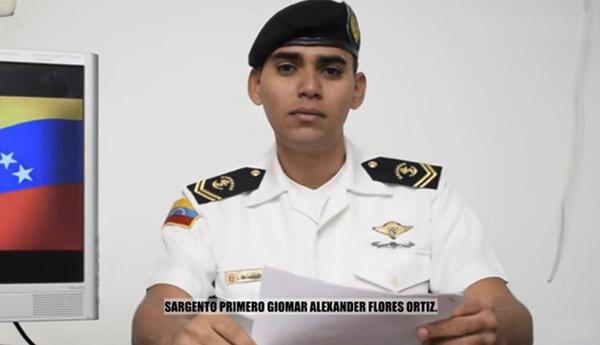 Sargento se declara en rebeldía contra Maduro | Foto: Captura de video