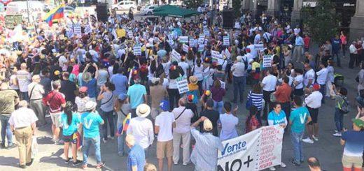 Venezolanos en Madrid | Foto: Twitter