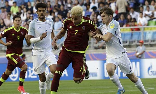 La selección Vinotintopierde ante Ingraterra | Foto: Sports