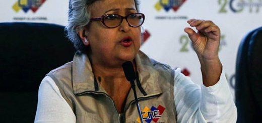 Tibisay Lucena, Presidenta del CNE | Foto: Cortesía