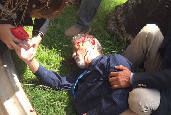 El parlamentario Américo de Grazia tuvo que ser trasladado de emergencia a un centro clínico | Foto: Twitter