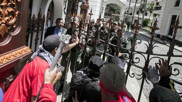 Guatemala lamenta y condena los actos de violencia registrados en la Asamblea Nacional   Foto: Miguel Gutiérrez   EFE