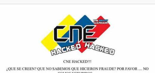 Hackean portal web del CNE tras fraude electoral y dejan un contundente mensaje | Foto cortesía