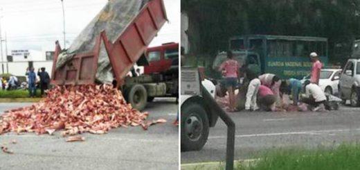 Barricada de huesos en Cabudare |Foto Twitter