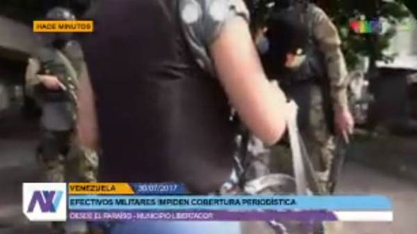 GNB amenaza a periodistas que cubran elecciones |Captura de video