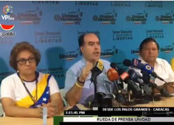 Julio Borges habla en nombre de la Unidad, sobre jornada electoral sobre la Constituyente |Foto: Captura de video