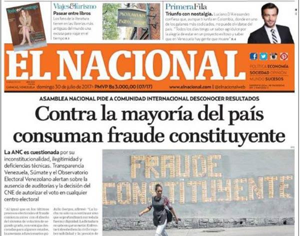 Portada de diario nacional |Kiosko.net