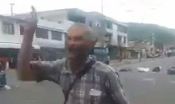 Venezolano se manifiesta en contra de la Constituyente  Captura de video