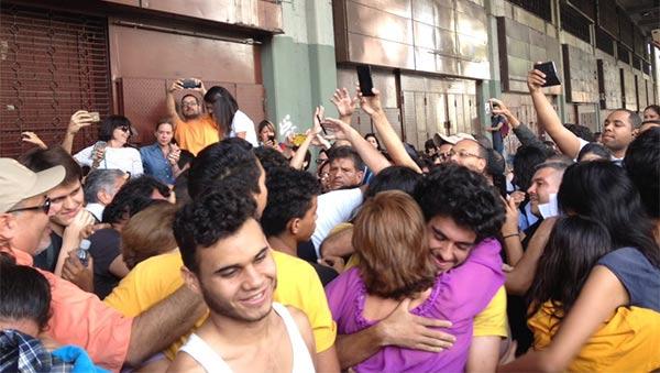 Así recibieron a los estudiantes de la USM tras injusta detención | Foto: Vía Twitter
