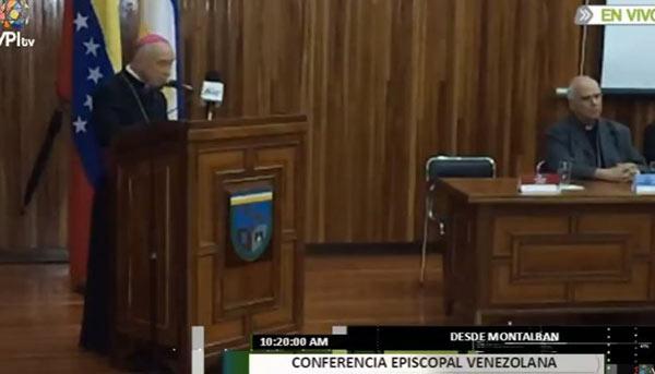 Moseñor Diego Padrón, Presidente de la CEV | Foto: Captura de video