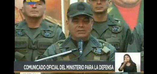 Ministro Vladimir Padrino López | Foto: Captura de video