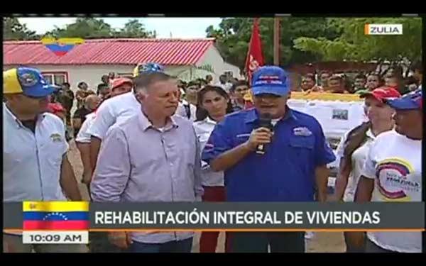 Gobernador del estado Zulia, Francisco Arias Cárdenas junto al ministro Quevedo | Foto: @VTVcanal8
