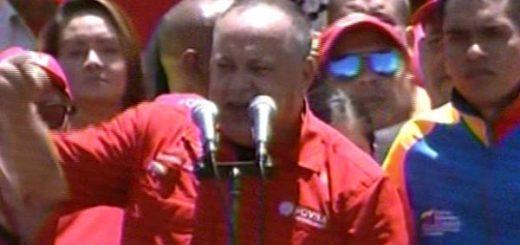 Diosdado Cabello durante concentración en apoyo a la Constituyente  Foto: Panorama