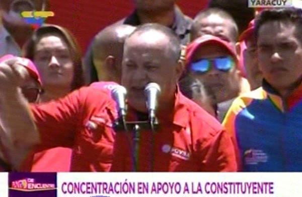 Diosdado Cabello durante concentración en apoyo a la Constituyente |Foto: Panorama