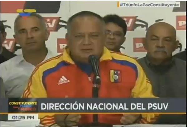 Diosdado Cabello, vicepresidente del PSUV  Foto: @ReporteYa